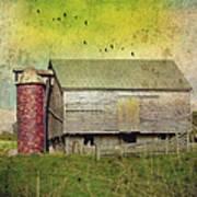 Brick Silo Poster by Kathy Jennings