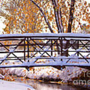 Bridge Over Icy Waters Poster by James BO  Insogna