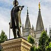 Brigham's Slc Temple Poster by La Rae  Roberts