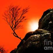 Brimham Sunset Poster by Meirion Matthias