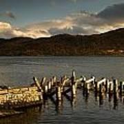 Broken Dock, Loch Sunart, Scotland Poster by John Short