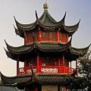 Buddhist Pagoda - Shanghai China Poster by Christine Till