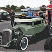 Car Show Coupe Poster by Steve McKinzie
