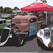 Car Show Hot Rods Poster by Steve McKinzie
