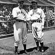 Carl Hubbell & Vernon Lefty Gomez Poster by Everett