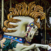 Carousel Horse - 4 Poster by Paul Ward