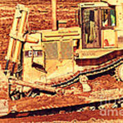 Cat Bulldozer . 7d10945 Poster by Wingsdomain Art and Photography