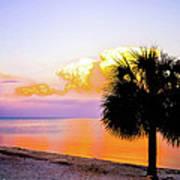 Cedar Key Sunset Poster by Shannon Harrington