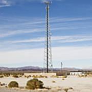 Cellular Phone Tower In Desert Poster by Paul Edmondson