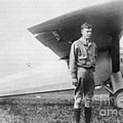 Charles Lindbergh American Aviator Poster by Photo Researchers