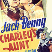 Charleys Aunt, Jack Benny, Kay Francis Poster by Everett