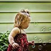 Chasing Bubbles Poster by Matt Dobson