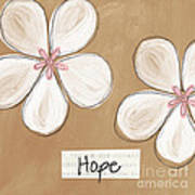 Cherry Blossom Hope Poster by Linda Woods