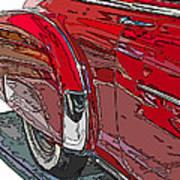 Chevrolet Fleetline Deluxe Rear Wheel Study Poster by Samuel Sheats