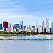 Chicago Panarama Skyline Poster by Paul Velgos