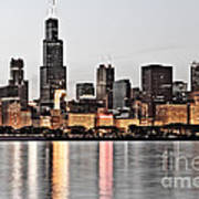 Chicago Skyline At Dusk Photo Poster by Paul Velgos