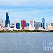 Chicago Skyline Poster by Paul Velgos