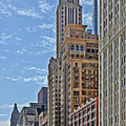Chicago Willoughby Tower And 6 N Michigan Avenue Poster by Christine Till