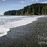 China Wave China Beach Juan De Fuca Provincial Park Vancouver Island Bc Poster by Andy Smy