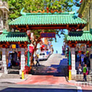 Chinatown Gate In San Francisco . 7d7139 Poster by Wingsdomain Art and Photography
