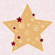 Christmas Star Poster by Frank Tschakert
