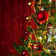 Christmas Tree Detail Poster by Carlos Caetano