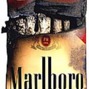 Cigarette Skeleton Poster by Michael Kraus