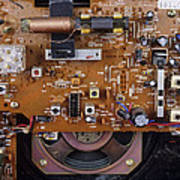 Circuit Board In A Portable Radio Poster by Andrew Lambert Photography