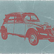 Citroen 2cv Poster by Naxart Studio