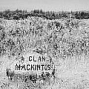 clan mackintosh memorial stone on Culloden moor battlefield site highlands scotland Poster by Joe Fox