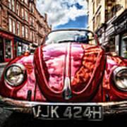Classic Vw On A Glasgow Street Poster by John Farnan