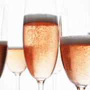 Close Up Of Glasses Of Champagne Poster by Brett Stevens