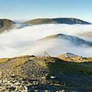 Cloudsurfing Grisedale Pike Poster by Stewart Smith