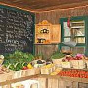 Colby Farm Stand Produce Poster by Kristine Patti