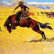 Cold Morning On The Range Poster by Pg Reproductions