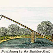 Colonial Ducking Stool Poster by Granger