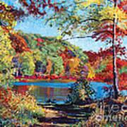 Color Rich Harriman Park Poster by David Lloyd Glover