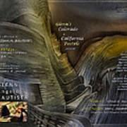 Colorado-california Art Book Cover2 Poster by Glenn Bautista