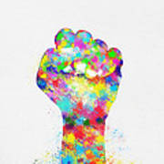 Colorful Painting Of Hand Poster by Setsiri Silapasuwanchai