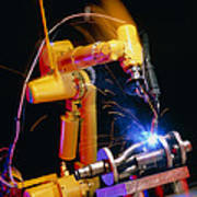 Computer-controlled Arc-welding Robot Poster by David Parker, 600 Group Fanuc