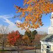 Concord Massachusetts In Autumn Poster by John Burk