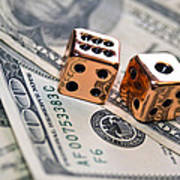Copper Dice And Money Poster by Susan Leggett