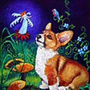Corgi Magic - Pembroke Welsh Corgi Poster by Lyn Cook