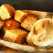Cornbread And Rolls Poster by Susan Savad