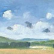 Cornfields Near Brading Poster by Alan Daysh