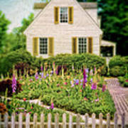 Cottage And Garden Poster by Jill Battaglia