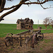 Country Home And Wagon Poster by Athena Mckinzie