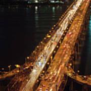 Crowded Bridge Poster by SJ. Kim