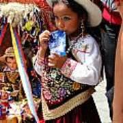 Cuenca Kids 97 Poster by Al Bourassa