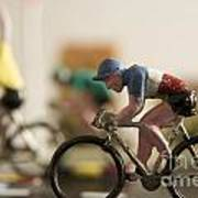 Cyclists. Figurines. Symbolic Image Tour De France Poster by Bernard Jaubert